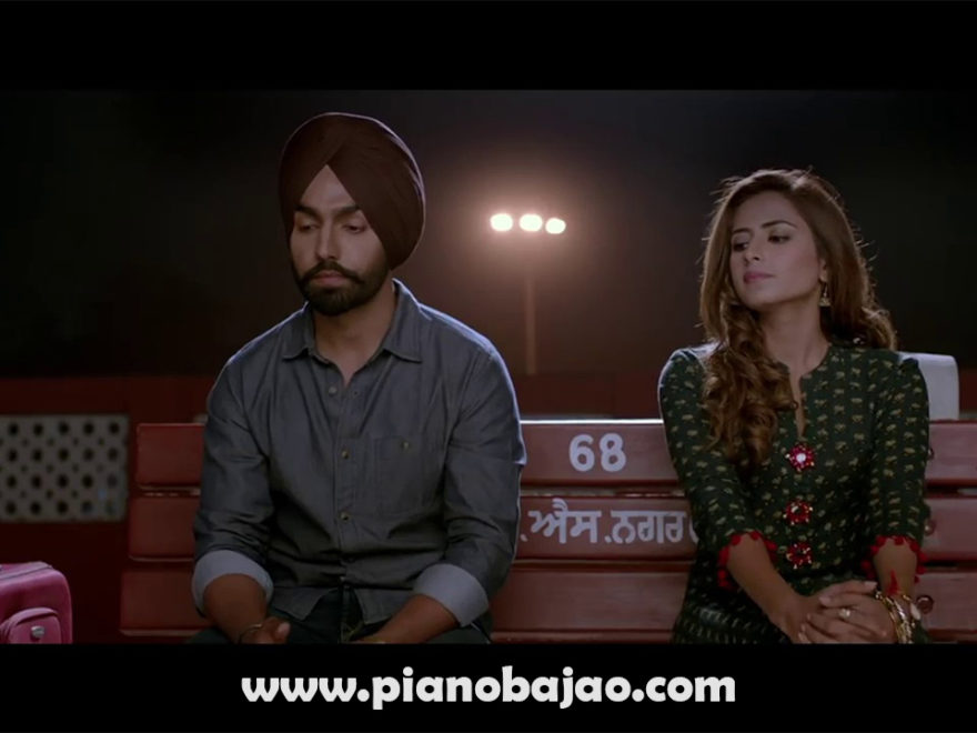 Qismat Full Piano Notes Ammy Virk Punjabi Song | Pianobajao
